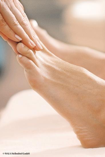Massage des pieds Dr. Hauschka à Nantes.